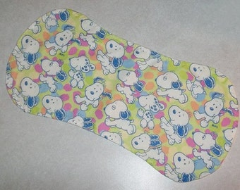 Set of 2 Baby Burp Pads in Snoopy Flannel