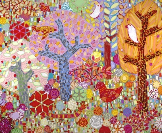 GICLEE PRINT ON CANVAS 36 X 44 INCH Radiant Forest