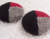 Red black gray buttons, color block buttons, cashmere buttons, fabric buttons, covered buttons, size 60 buttons, price per button