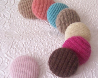 8 cashmere buttons, fabric buttons, covered buttons, textured buttons, 1.5 inch button, size 60 buttons