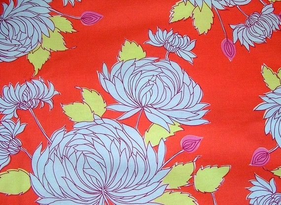 Amy Butler Fabric Belle for the Home Orange Chrysanthemum
