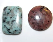 DESTASH large dyed dalmatian jasper focals pendants