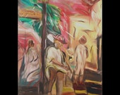 Music of New Orleans 8 x 11 giclee on canvas