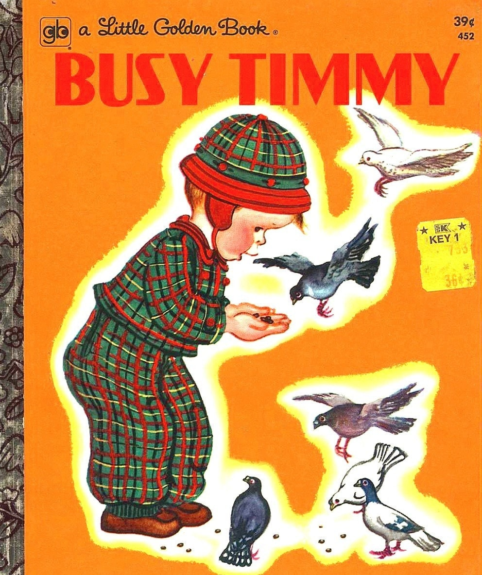 LITTLE GOLDEN BOOK BUSY TIMMY 1973 ILLUSTRATED By ELOISE