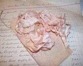 Vintage Light Pink Crinkled Ribbon