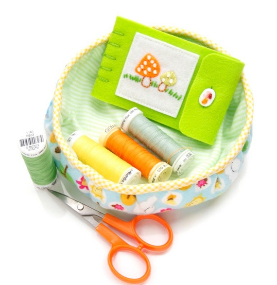 Kawaii Fabric Basket Cute Flannel Storage