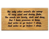 Miles to Go, Robert Frost mounted rubber stamp, Christmas, winter woods, snow No.19