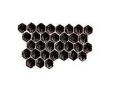 Honeycomb UNMOUNTED rubber stamp, bee No.15