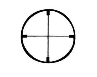 CROSSHAIRS Unmounted rubber stamp, Hunting / Shooting, scope sight, Sweet Grass Stamps No.14