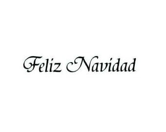 FELIZ NAVIDAD Spanish Merry Christmas unmounted rubber stamp No.11