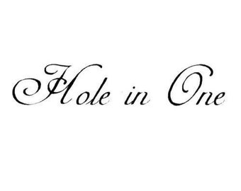 Hole in One unmounted golf rubber stamp