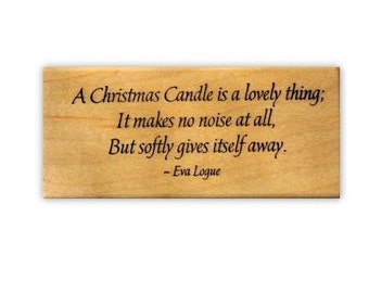 Christmas Candle Quote mounted rubber stamp No.19