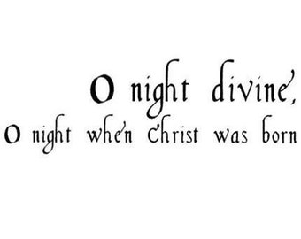 O Night Divine unmounted Christmas rubber stamp, Jesus Christ, religious, Sweet Grass Stamps No. 13