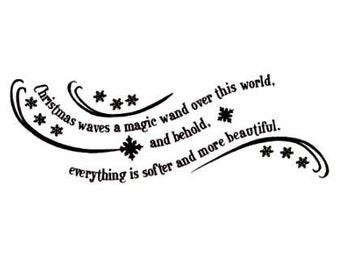 MAGIC WAND Christmas saying unmounted rubber stamp, holiday phrase, Sweet Grass Stamps No.19