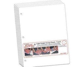5-pack of Light Weight Storage Panels for rubber stamps w/ EZ Mount