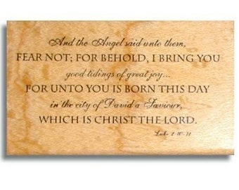 LUKE 2 vs.10-11 Christian Christmas rubber stamp, bible verse, scripture, Jesus, Sweet Grass Stamps No.7