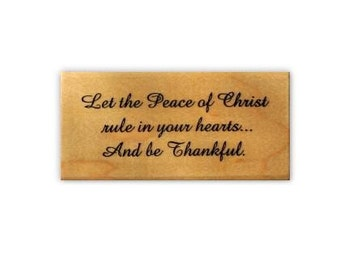 Peace of Christ mounted Christian Christmas rubber stamp, Sweet Grass Stamps No.19