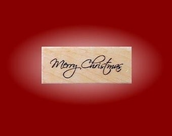 MERRY CHRISTMAS Mounted rubber stamp No.13