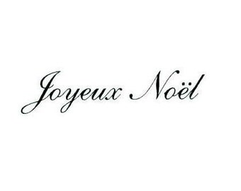 JOYEUX NOEL French Merry Christmas unmounted rubber stamp No.11