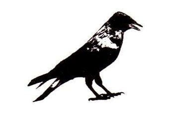 CROW Unmounted bird rubber stamp by Sweet Grass Stamps No.15