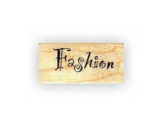FASHION mounted rubber stamp, No.5
