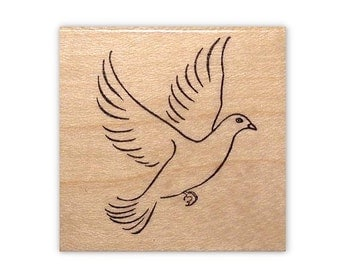 Dove Mounted rubber stamp No.11