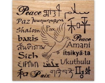 Language of Peace Mounted rubber stamp No.11