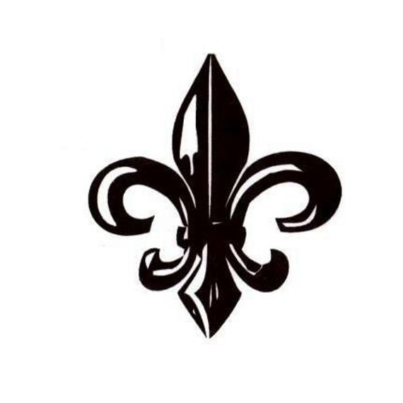 Large Fleur De Lis Unmounted Rubber Stamp French Monarchy