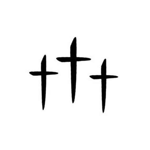THREE CROSSES Christian unmounted rubber stamp No.11