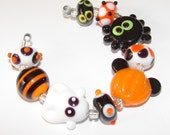 SPRING CLEANING SALE Mickeys Halloween Party handmade lampwork beads