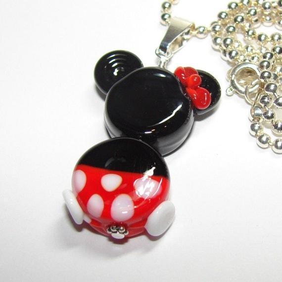 The Mickeys Girlfriend handmade lampwork necklace