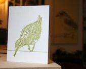 Bird-Block small art ready to hang