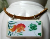 Koi and Lotus Necklace