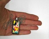 Wonder Woman Necklace On Wood - Comic Book Pendant
