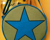 Ramona Flowers from Scott Pilgrim Star bag, subspace suitcase with adjustable strap, army green, aqua blue
