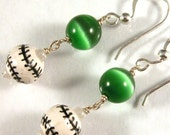 Team Colors Baseball or Softball Sterling Silver Earrings