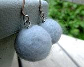 Sweet fuzzy blue berry drop earrings