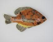 Ceramic fish sunfish decorative art wall wall hanging
