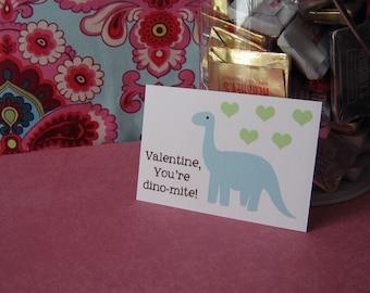Printable Dinosaur Valentines Digital File Instant Download
