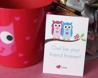 Printable Owl Valentines for Kids Digital File Instant Download