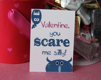Printable Monster Valentines Digital Instant Download