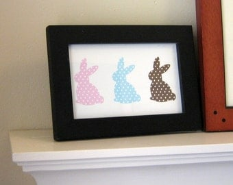 Bunnies Printable Wall Art by BitsyCreations Instant Download