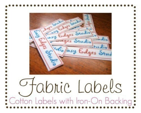 DOUBLE ORDER Fabric Labels Iron-on or Sew-in