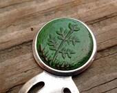 Rustic Emerald Green Tree Seedling Bookmark