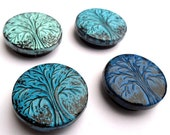 Shades of Blue Winter Tree Magnet Set - Hibernation