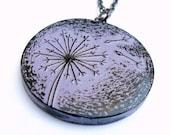 Lavender Dandelion Necklace - Letting Go