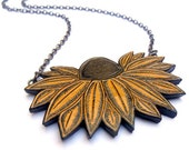Black-Eyed Susan Yellow Flower Necklace Jewelry - Preakness