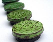 Rustic Green Tree Seedling Magnet Set. Green Gradient. Botanical Magnets. Co-worker Gift. Housewarming Gift. Nature Lover Gift. Teacher Gift