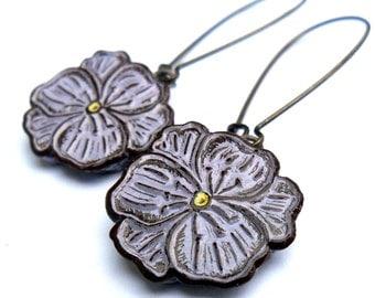 Lavender Violet Dangle Earrings