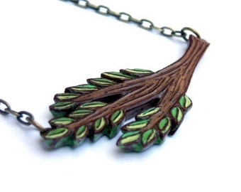 Tree Branch Necklace, Tree Branch Pendant,Tree Bough Jewelry, Tree Necklace, Woodland Jewelry, Gift for Nature Lover, Gift for Her